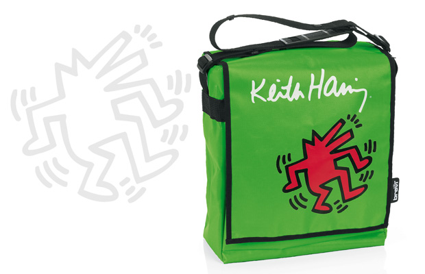Borsa fasciatoio Green Brevi Keith Haring Collection