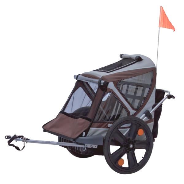 Il carrello porta bimbi sulle biciclette