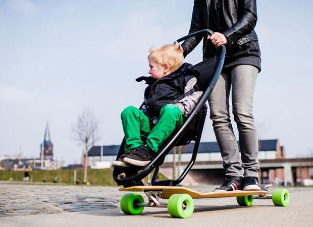 skateboarding mamme