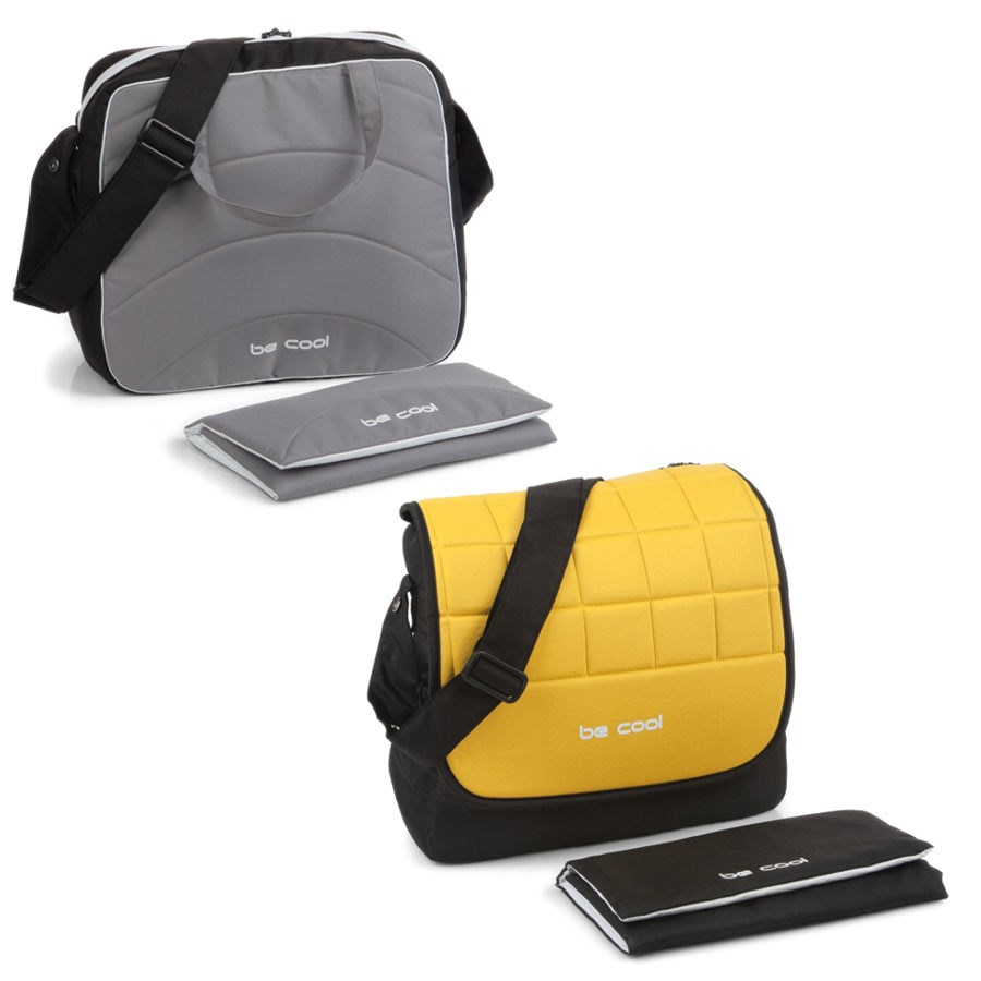 56ace13da0 ... Vista della borsa cambio con colore reversibile - Crazy (Grey vs  Yellow) - Be ...